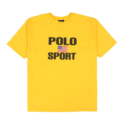 POLO SPORT XPLICIT FLAG TEE // YELLOW