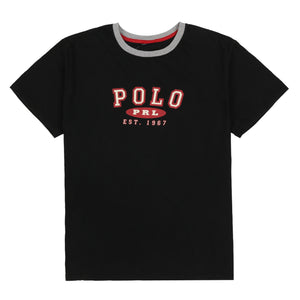POLO EST SPELL OUT RINGER TEE // NAVY