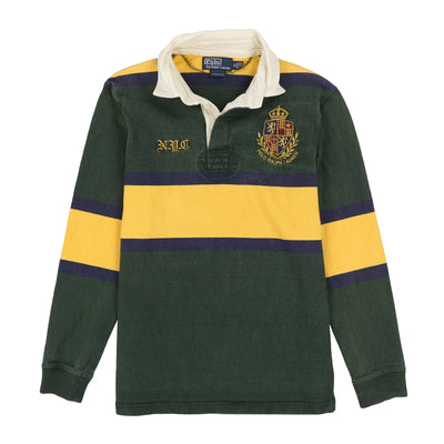 POLO NYC CREST LS POLO // GREEN NAVY YELLOW