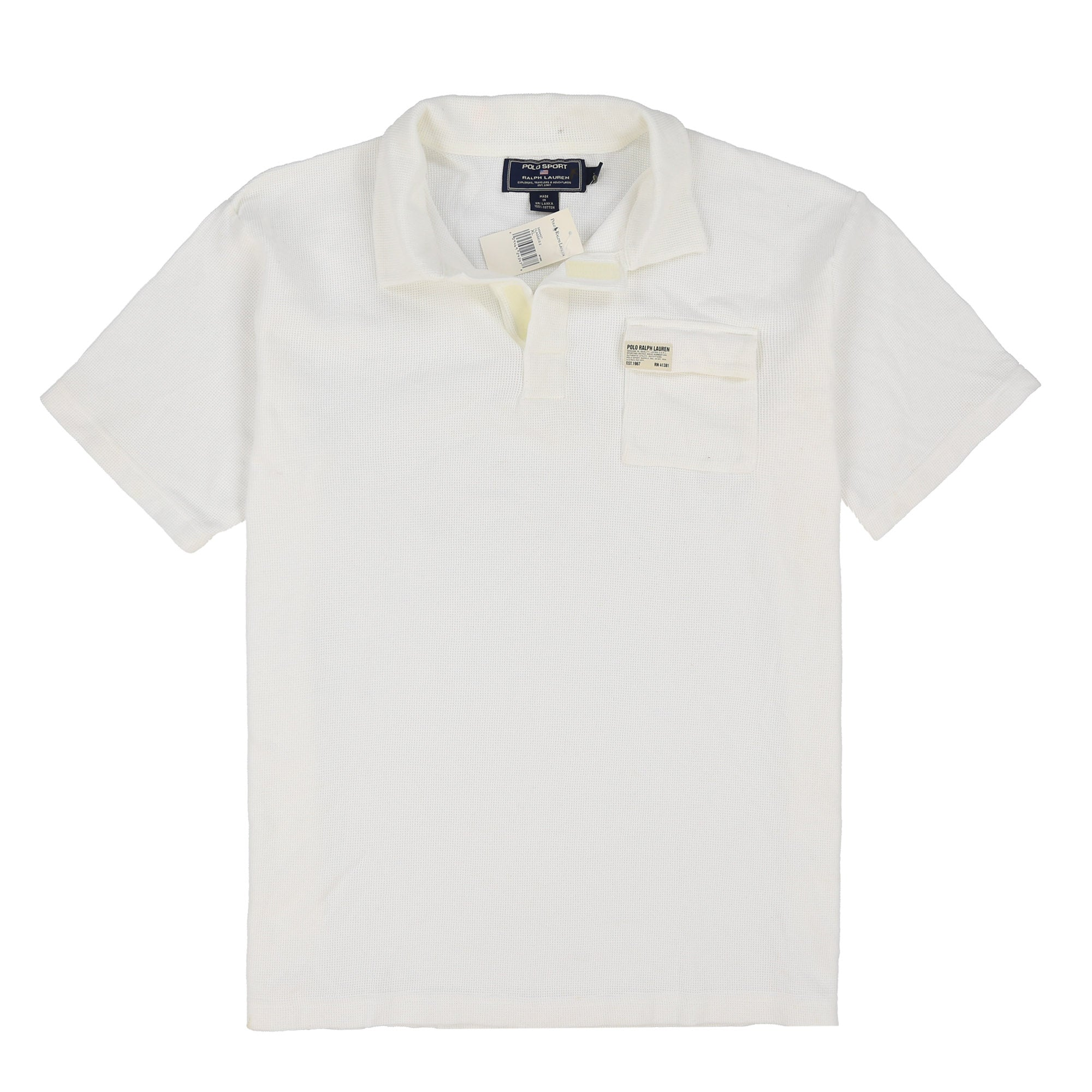 POLO SPORT WICKET-CLOTH SS POLO // WHITE