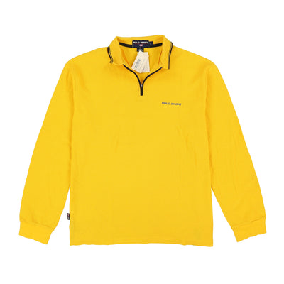POLO SPORT SLD MISC EMB SPELL OUT LS POLO // SLICKER YELLOW