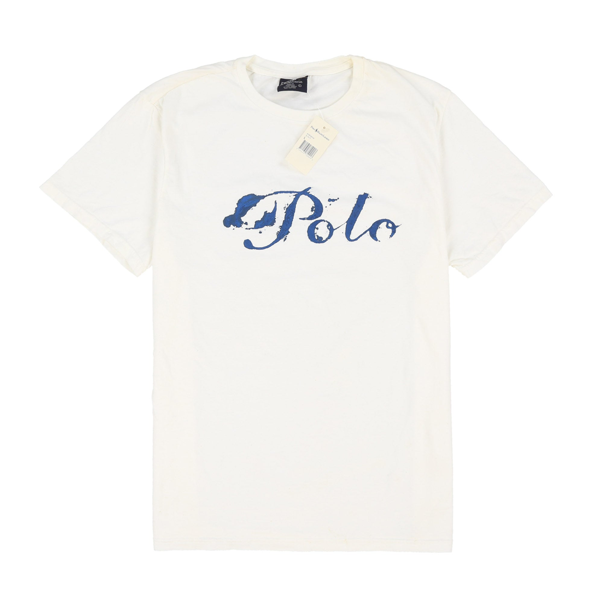 POLO INKWELL SPELL OUT TEE // WHITE