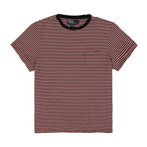 POLO MINISTRIPED POCKET TEE // BLUE RED WHITE