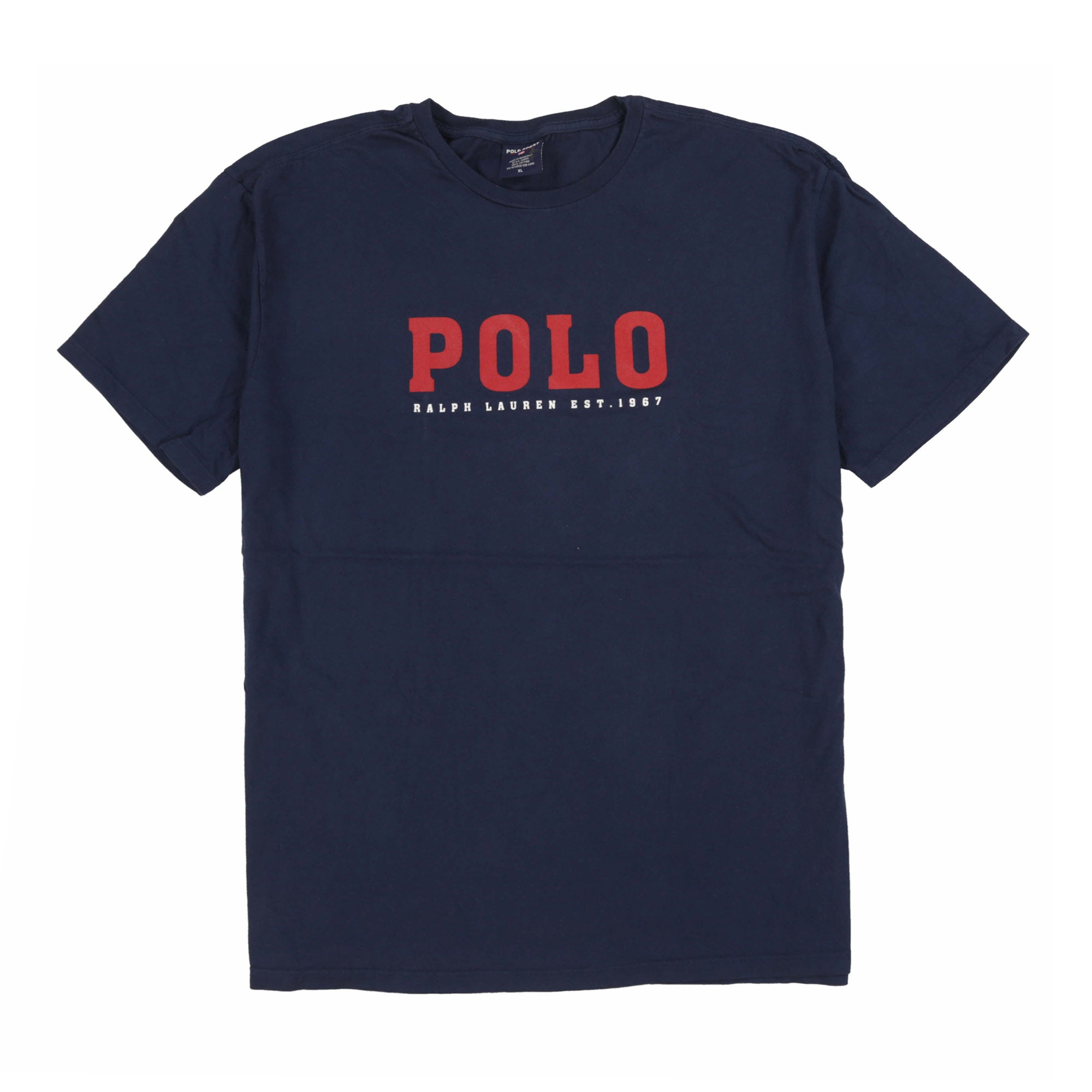 POLO SPORT EST SPELL OUT TEE // NAVY