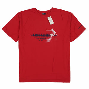 POLO SURFER TEE // RED