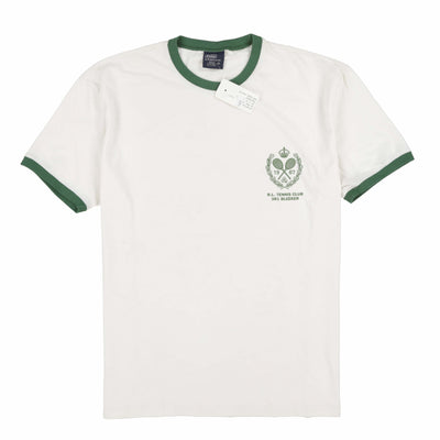 POLO SPORT TENNIS BLEECKER RINGER TEE // WHITE GREEN