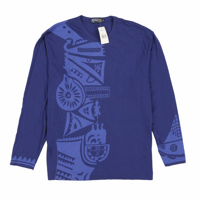 POLO ASTEC PRINT LS TEE // BLUE