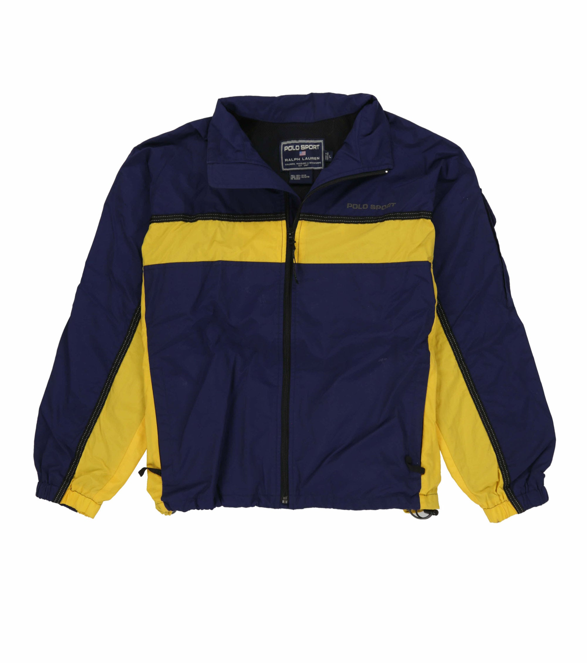 POLO SPORT EMB SPELL OUT TRACKSUIT // NAVY YELLOW