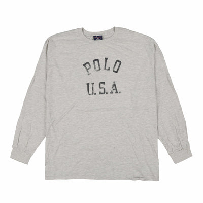 POLO SPORT USA 6 TEE // OLYMPIC HEATHER