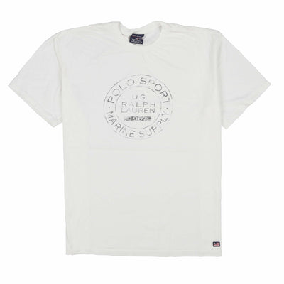 POLO SPORT MARINE SUPPLY COOKIE TEE // WHITE