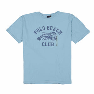 POLO SPORT BEACH CLUB TEE // BLUE LAGOON