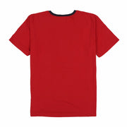 POLO EST SPELL OUT RINGER TEE // RED