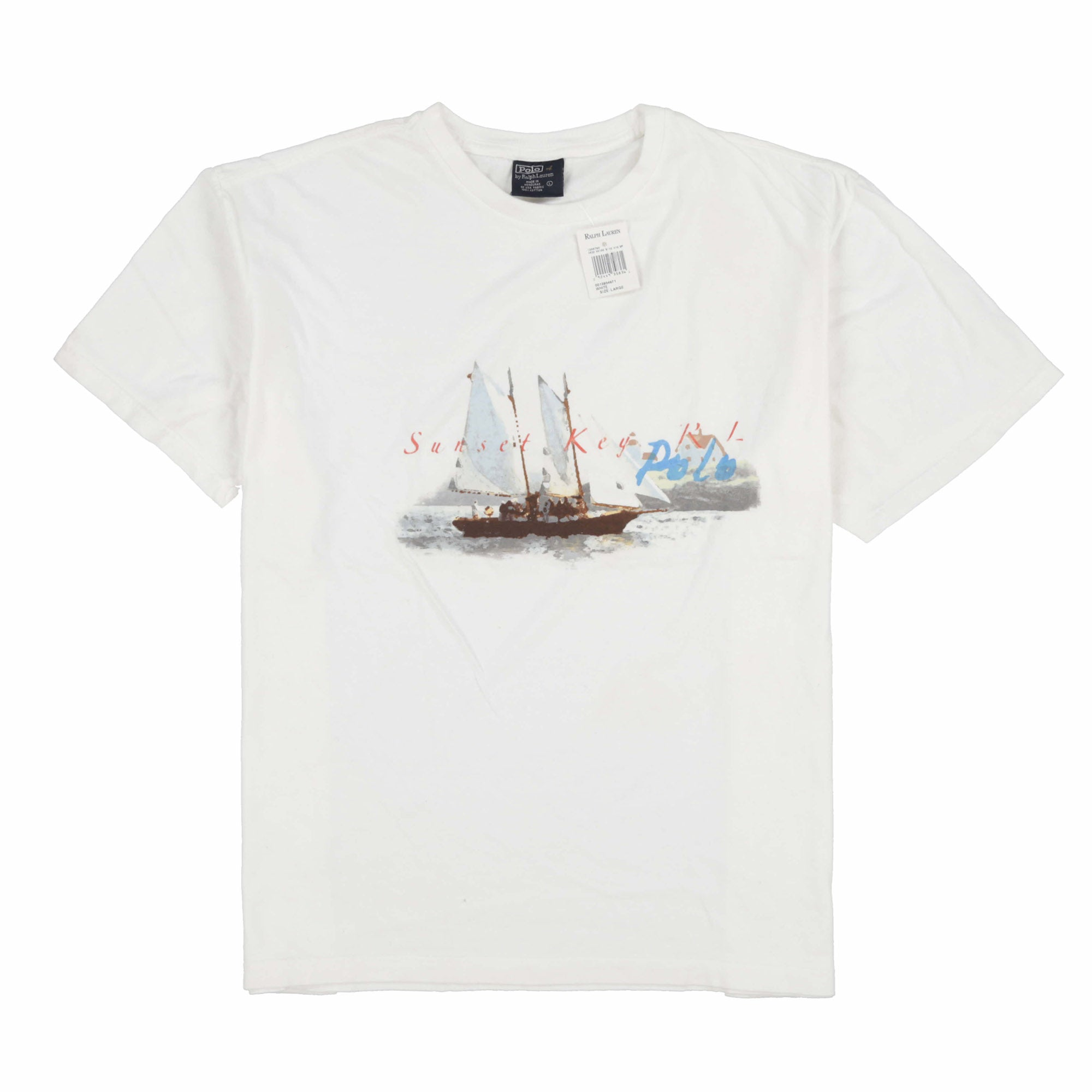 POLO SUNSET TEE // WHITE