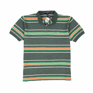 POLO SPORT SPORT4 SS STRIPE POLO // GREEN MULTI