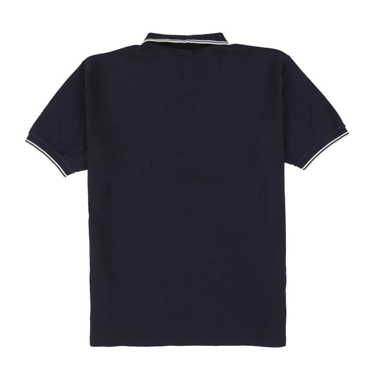 POLO SPORT EMB C SPELL OUT SS POCKET POLO // NAVY