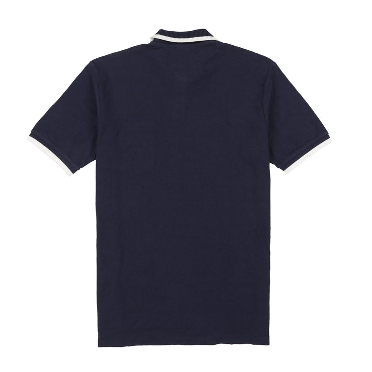 POLO SPORT EMB SPELL OUT SS POCKET POLO // NAVY