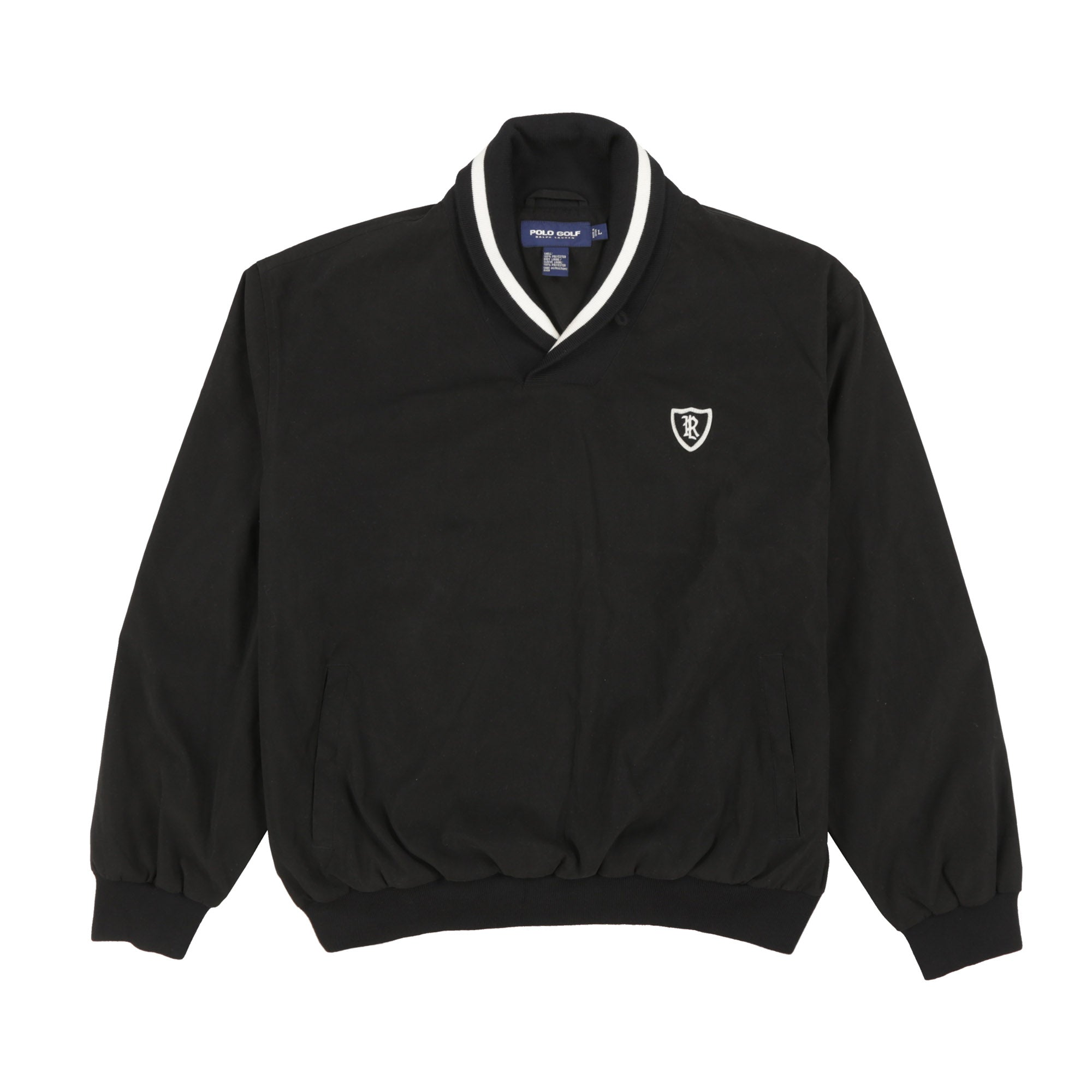 POLO GOLF PIPING ROC SWEATSHIRT // BLACK