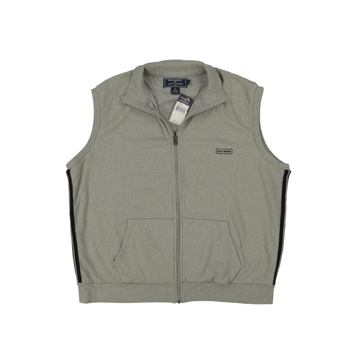 POLO SPORT BSC SS ZIP // HEATHER GREY