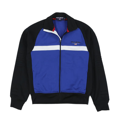 POLO SPORT SPELL OUT TRACKTOP // BLACK BLUE WHITE