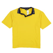 POLO COLLAR SPELL OUT SS POLO // YELLOW