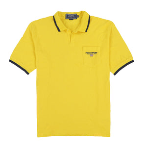 POLO SPORT EMB SPELL OUT SS POCKET POLO // YELLOW