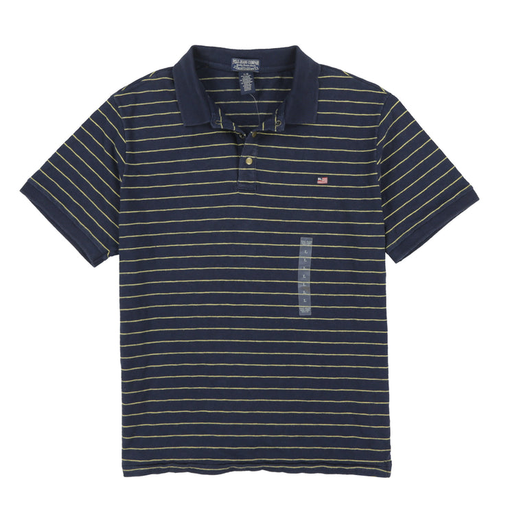POLO JEANS MIDNIGHT PREP FLAG STRIPE POLO // NAVY YELLOW