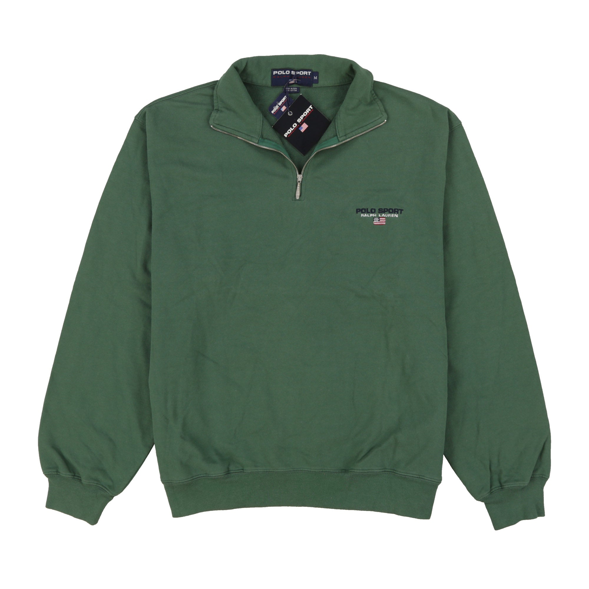 POLO SPORT PSCLASSICS QUARTER ZIP // GREEN