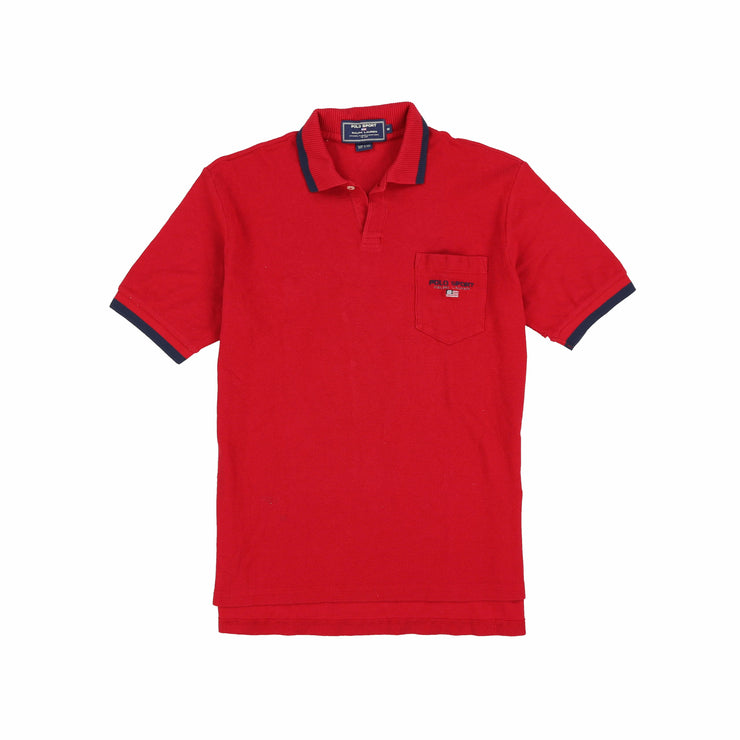 POLO SPORT EMBC SPELL OUT SS POCKET POLO // RED