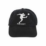 RUGBY MAN CAP // BLACK WHITE