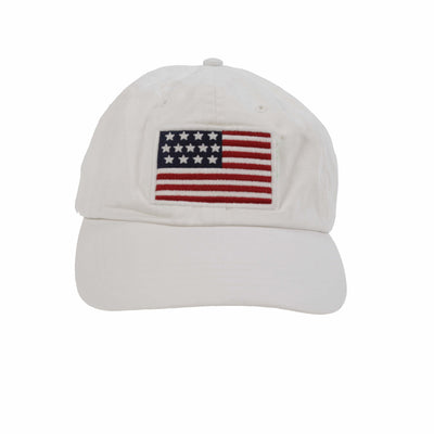 POLO AMERICAN FLAG CAP // WHITE