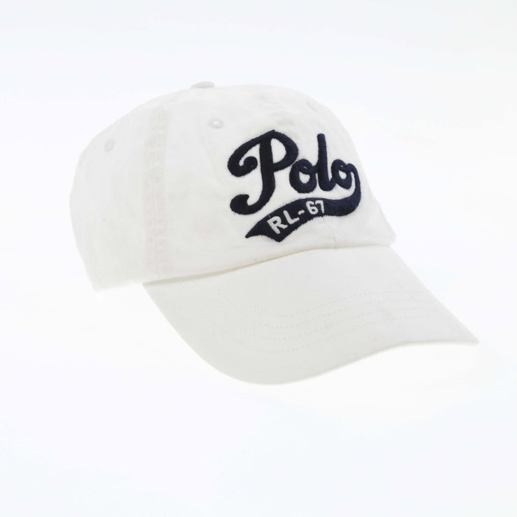 POLO SCRIPT SPELL OUT CAP // WHITE