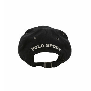 POLO SPORT RL 67 APPLIQUE SPELL OUT CAP // BLACK