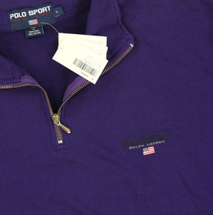 POLO SPORT PSCLASSICS QUARTER ZIP // PURPLE