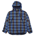 POLO SPORT SPELL OUT PLAID HOODED JACKET // MULTI