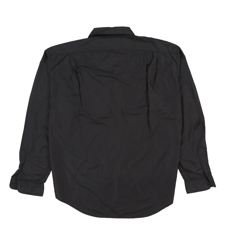 POLO RUTHLAND NYLON LS SHIRT // BLACK