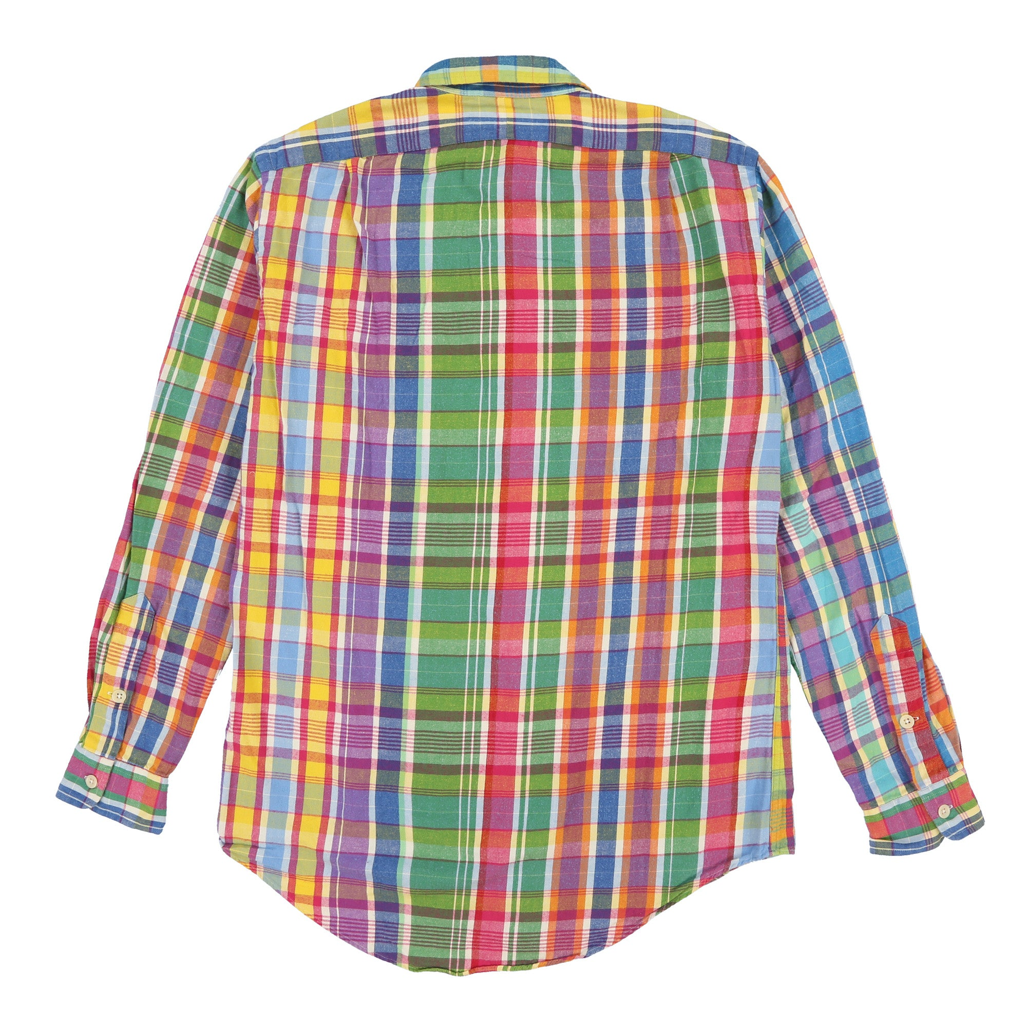 POLO MADRAS PLAID LS SHIRT // MULTI