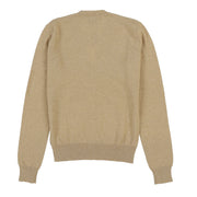 RL GOLF TOURNAMENT SILK CASHMERE CARDIGAN // BROWN