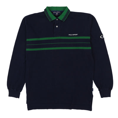 POLO SPORT SPELL OUT PEPSI LS POLO // NAVY GREEN