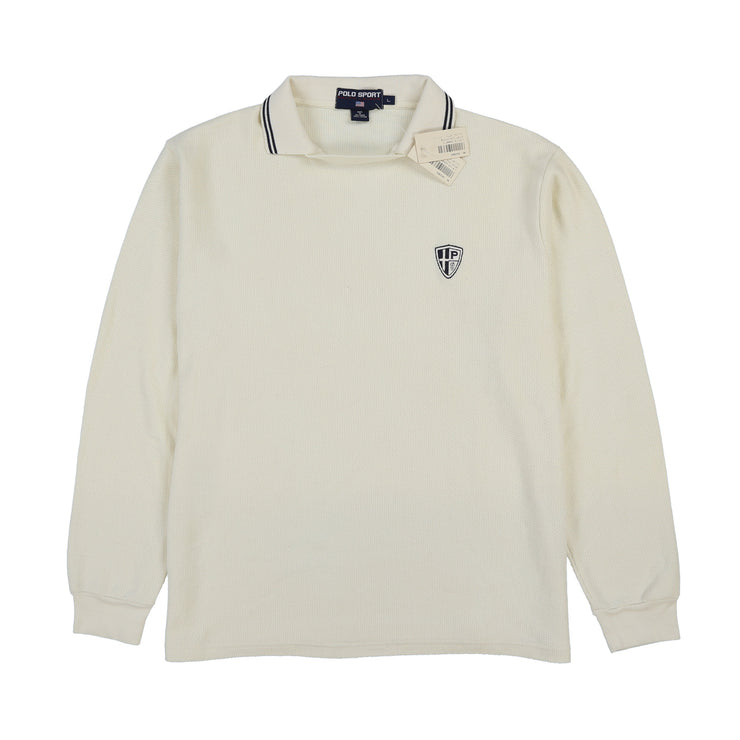 POLO SPORT JOHNNY SPORT TUCK P SHIELD LS POLO // WHITE