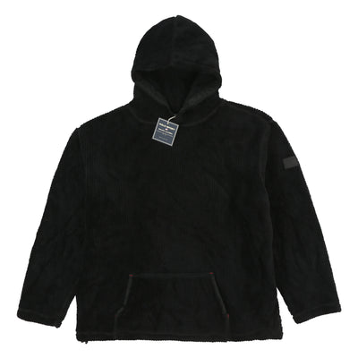 POLO SPORT 7 VELOUR HOODED JACKET // BLACK