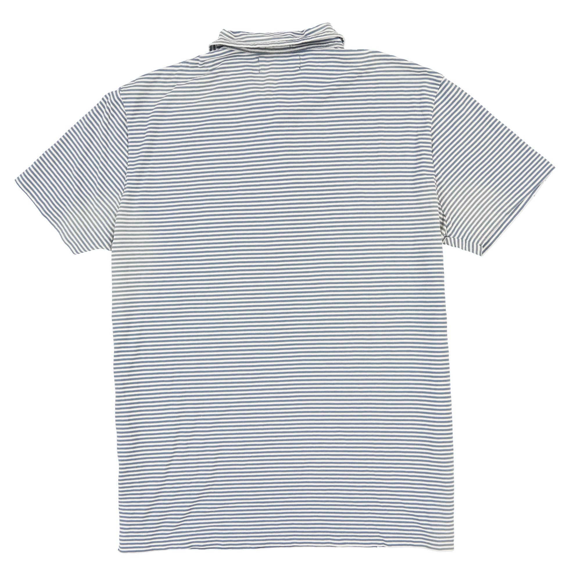POLO MINI STRIPE SS POLO // WHITE BLUE