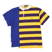 POLO SPORT USA BACKPATCH STRIPE SS POLO // BLUE YELLOW PURPLE