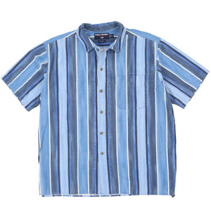 POLO SPORT VERTICAL STRIPE SS SHIRT // BLUE