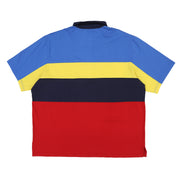 POLO SPORT SPELL OUT BLOCK COLOR POLO // BLUE YELLOW NAVY RED