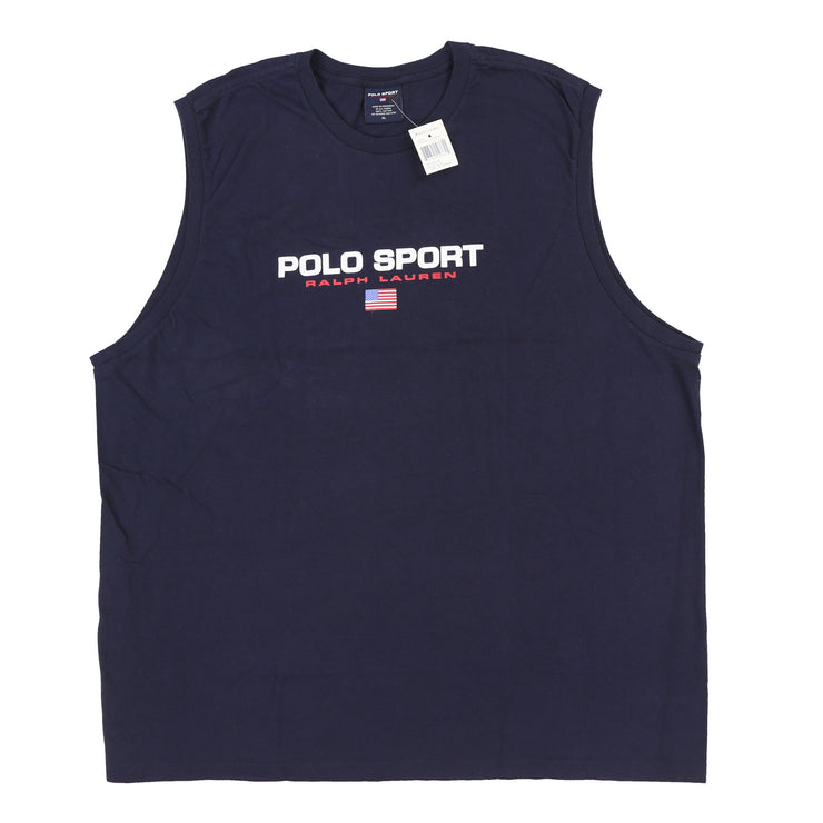 POLO SPORT SPELL OUT TANK TOP // NAVY