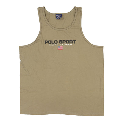POLO SPORT SPELL OUT TANK TOP // ARMY