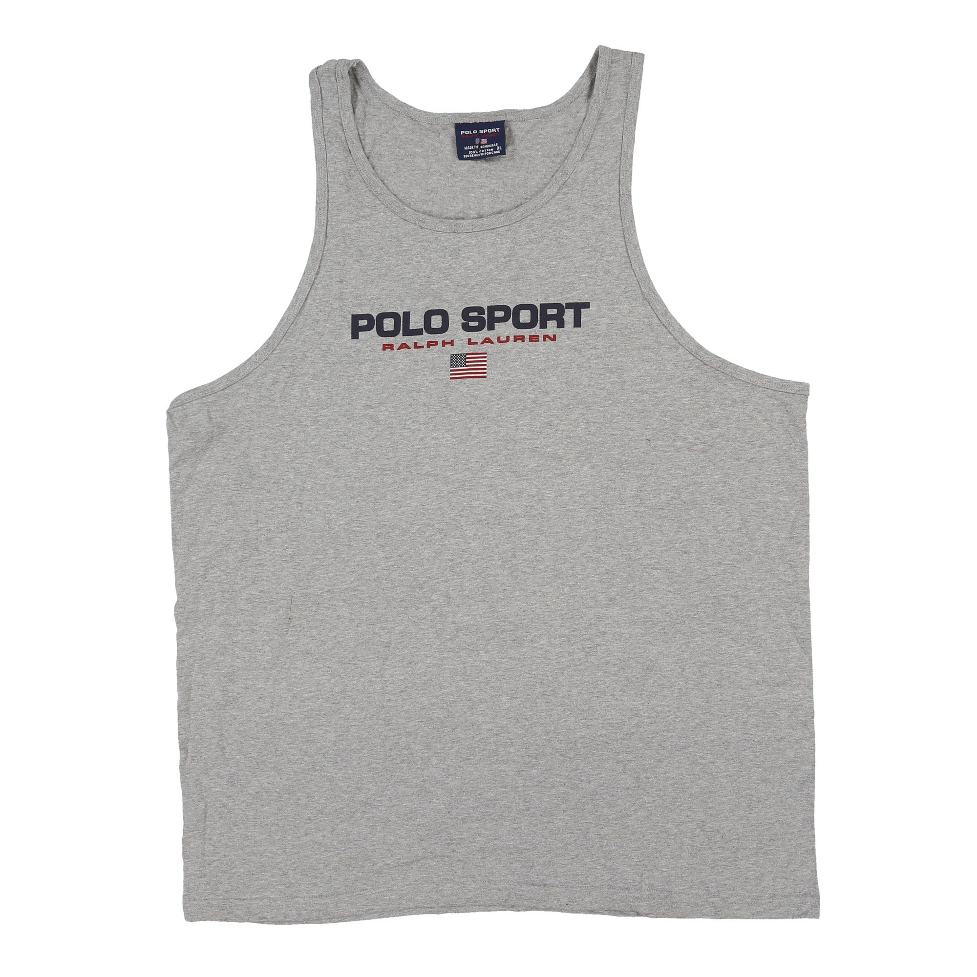 POLO SPORT SPELL OUT TANK TOP // HEATHER GREY