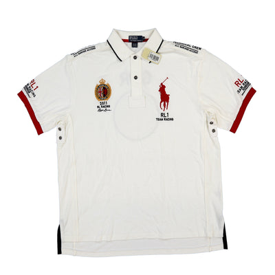 POLO TEAM RACING SS POLO // WHITE