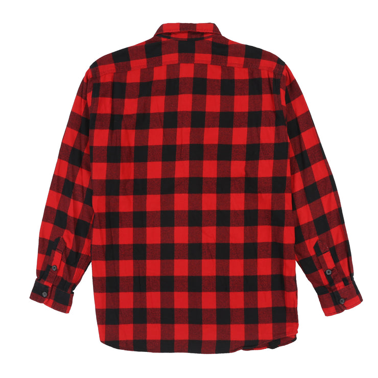 POLO FLANNEL LS SHIRT // RED
