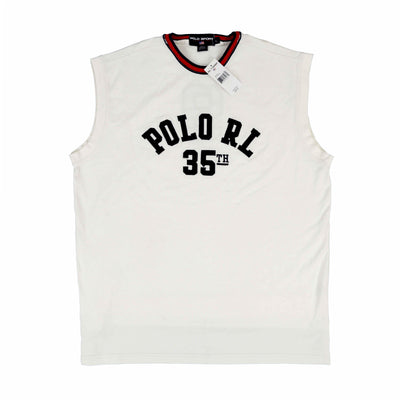 POLO SPORT ALL AMERICAN MUSCLE TANK TOP // WHITE